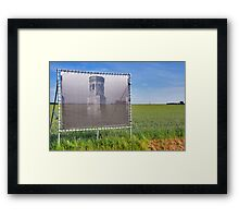 A tower in the polder Framed Print