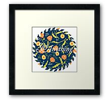 Say Anything Buzzsaw Framed Print