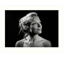 Portrait with one light! Art Print