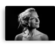 Portrait with one light! Canvas Print