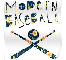 Modern Baseball Logo Poster