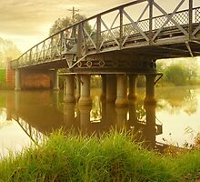 Sale Swing Bridge, Victoria, Australia by Michael Boniwell