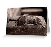 Mouseman Mouse Robin Hoods Bay Greeting Card