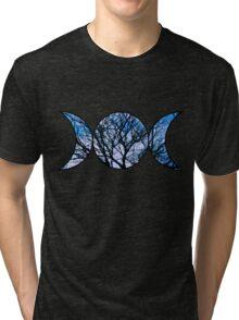 Blue Triple Goddess Symbol Tri-blend T-Shirt