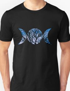 Blue Triple Goddess Symbol Unisex T-Shirt