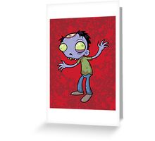 Cartoon Zombie Greeting Card