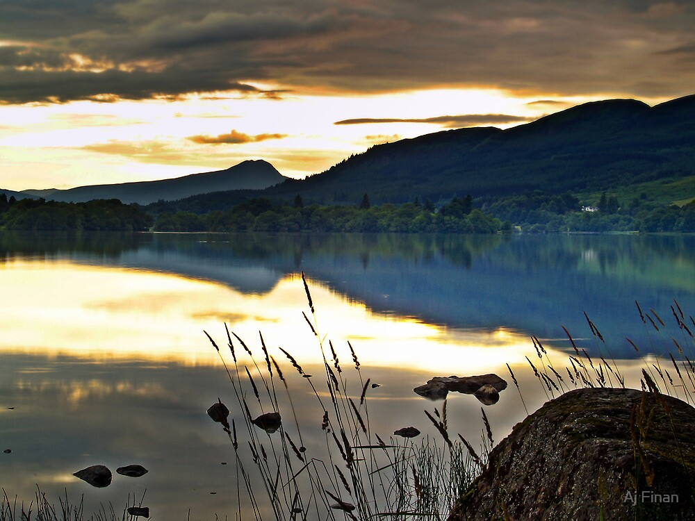 Lake Menteith, Scotland. by Aj Finan