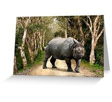 INDIAN RHINO - KAZIRANGA Greeting Card