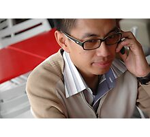 young executive make a call Photographic Print