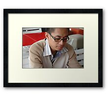 young executive Framed Print