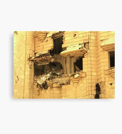 US Air Force bombing Canvas Print