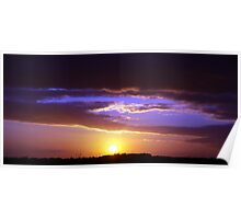 Sunset over the Wind Farm III Poster