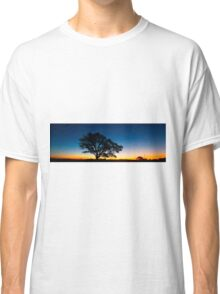 Panorama of a silhouette tree at dusk. Classic T-Shirt