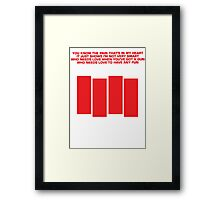 Black Flag - Louie Louie Framed Print