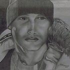 2B Graphite drawn Portrait by Nikki Portanova