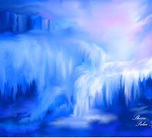 ICE FALLS                                                           acrylic by Sherri     Nicholas