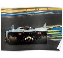 Porsche 917 into Tertre Rouge at Le Mans Poster