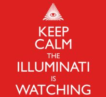 Keep Calm the Illuminati is watching Kids Clothes
