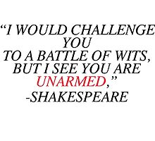 Shakespeare-Battle of Wits by calliecomp