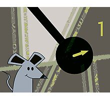 Hickory Dickory Dock, The mouse ran up the clock. Photographic Print