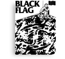 Black Flag - Six Pack Canvas Print