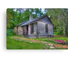 1830 Log Cabin Canvas Print