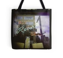 Never Cool Enough to Work at a Record Store Tote Bag