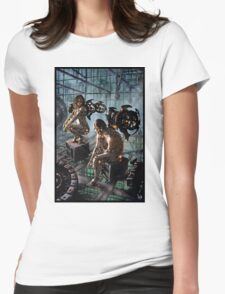 Robot Angel Painting 015 Womens Fitted T-Shirt