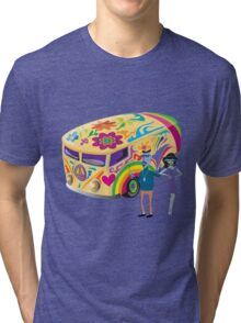 Psychedelic Vehicle & Beatniks Tri-blend T-Shirt