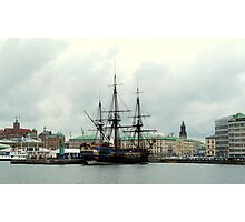 "The City of Gothenburg & East Indiaman ""Götheborg"" Photographic Print"
