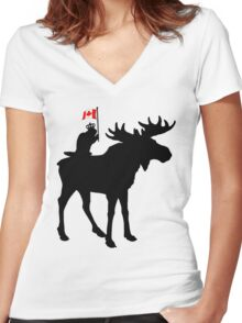 Oh Canada ! Women's Fitted V-Neck T-Shirt