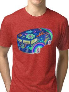 60's Psychedelic Vehicle Tri-blend T-Shirt