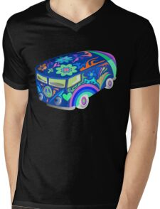 60's Psychedelic Vehicle Mens V-Neck T-Shirt
