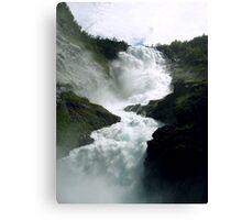 Waterfall - Kjosfossen, Norway Canvas Print