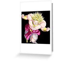 dragon ball z broly anime manga shirt Greeting Card