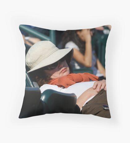 Boring Tennis Match? Throw Pillow