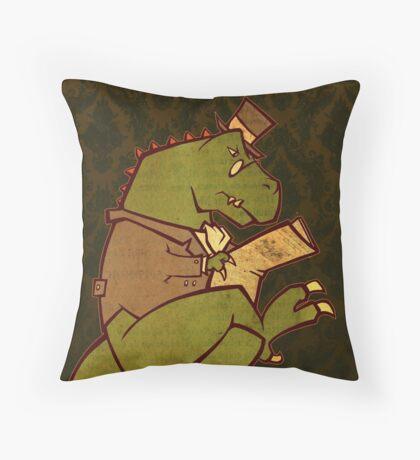Gentleman T-Rex Throw Pillow