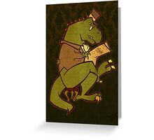 Gentleman T-Rex Greeting Card