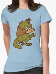 Gentleman T-Rex Womens Fitted T-Shirt