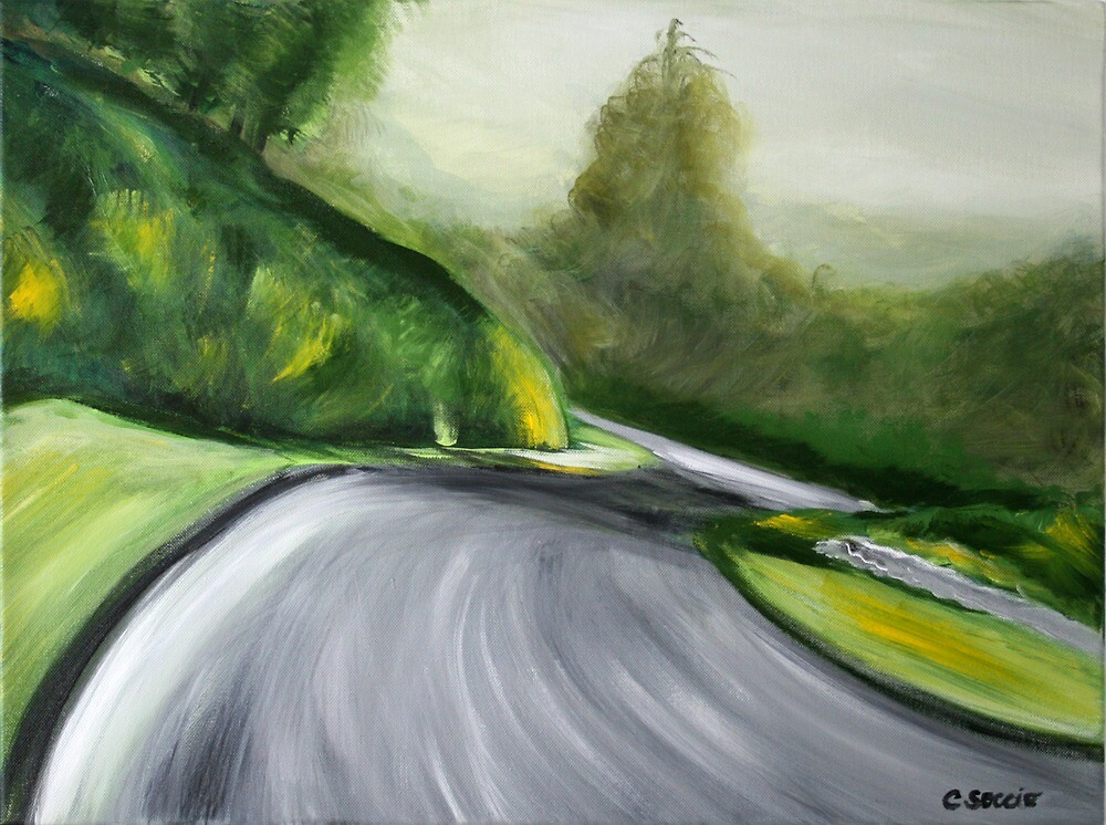 Lime Rock Park for Bart. Acrylic Painting. by csoccio100