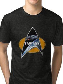 StarTrek defiant Command Signia Chest Tri-blend T-Shirt