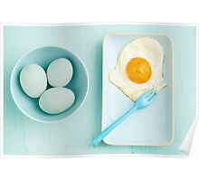 Eggs and fried egg Poster