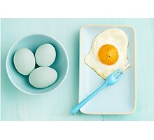 Eggs and fried egg Photographic Print