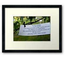 Memorial Wish Tree Framed Print