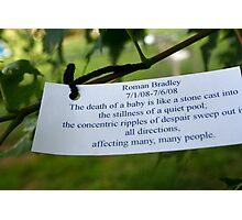 Memorial Wish Tree Photographic Print