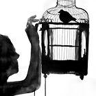 bird feeder by Loui  Jover