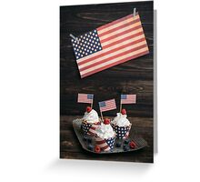Independence day cupcakes Greeting Card