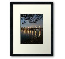 Reflecting Lights Framed Print