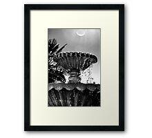 Sunny Fountain Framed Print