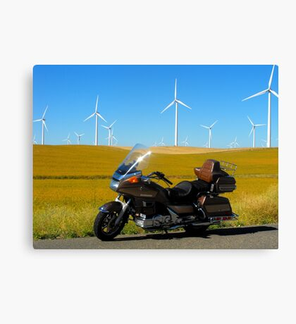 Cavalcade and Wind Mills Canvas Print